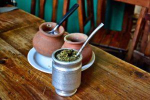 Mate tea in Argentina - Paul Lokuciejewski drinking Mate Tea