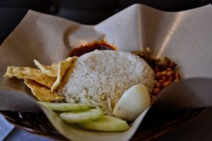 Nasi Lemak traditional dish in Malaysia breakfast