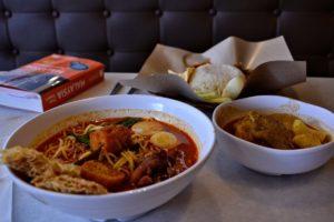 Laksa traditional Malaysian dish
