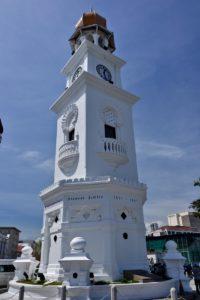 UNESCO Clock tower in georgetown Penang Malaysia - Reisetipps für Malaysia