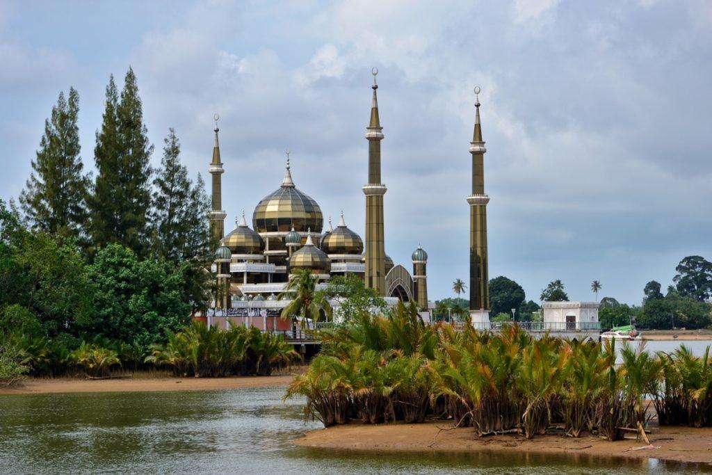 Shiny mosque Kuala Terengganu Malaysia - Malaysia Travel Tips