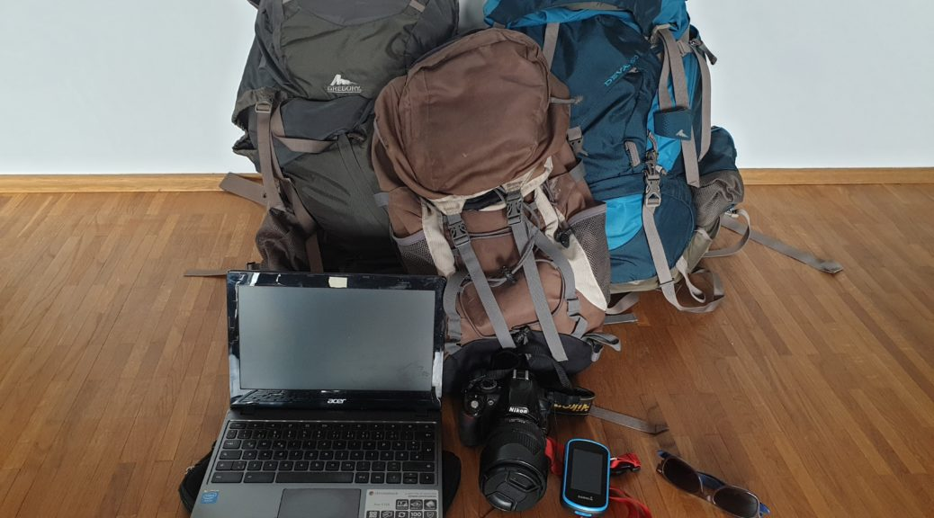Packing list for travelling