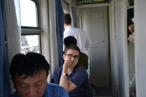 Train from Dandong to North Korea