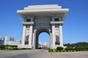 Arc de Triomphe triumphal arch yongyang DPRK North Korea