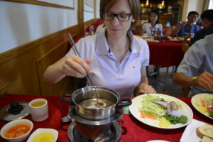 Saskia Hohe Korean Hotpot Pyongyang DPRK North Korea