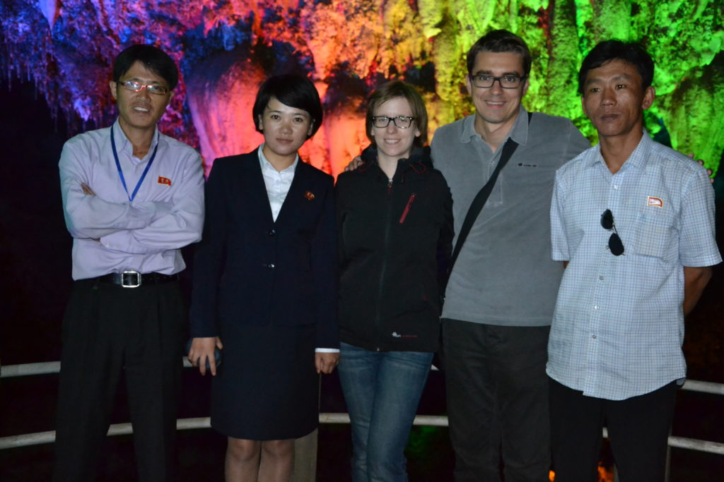 Saskia Hohe in Ryongmum Cavern DPRK North Korea