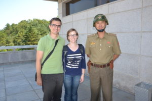 Saskia Hohe at DMZ DPRK North Korea