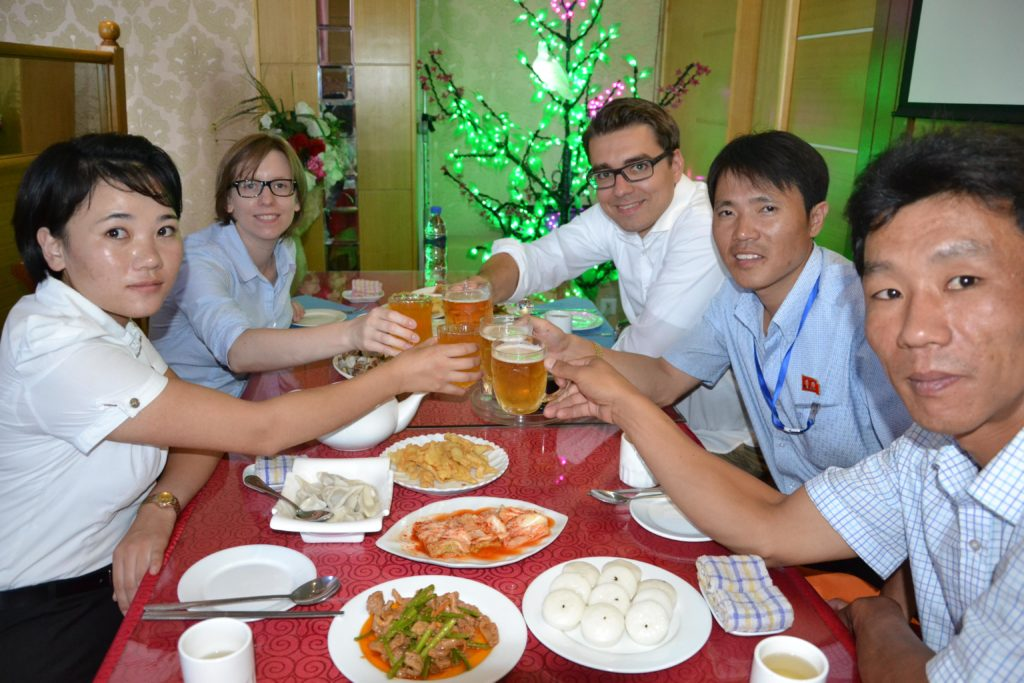 Saskia Hohe Dinner DPRK North Korea