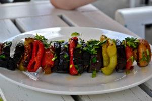 Georgian Shashlik traditional Georgian dish