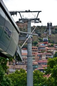 Cable car Narikala fortress Tbilisi Georgia