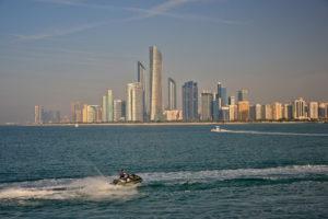 Heritage Village Breakwater Island United Arab Emirates vereinigte Arabische Emirate skyline Abu Dhabi