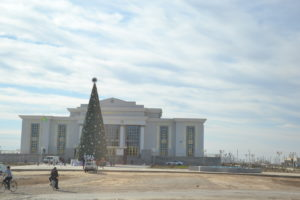 Driving with a driver in Turkmenistan